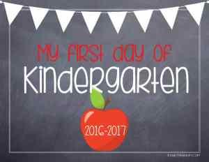 kaseytrenum chalk board sign prekindergarten