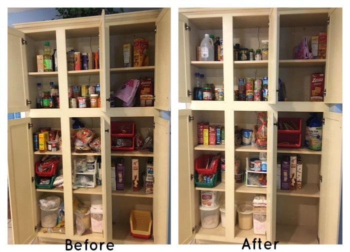 before:after pantry