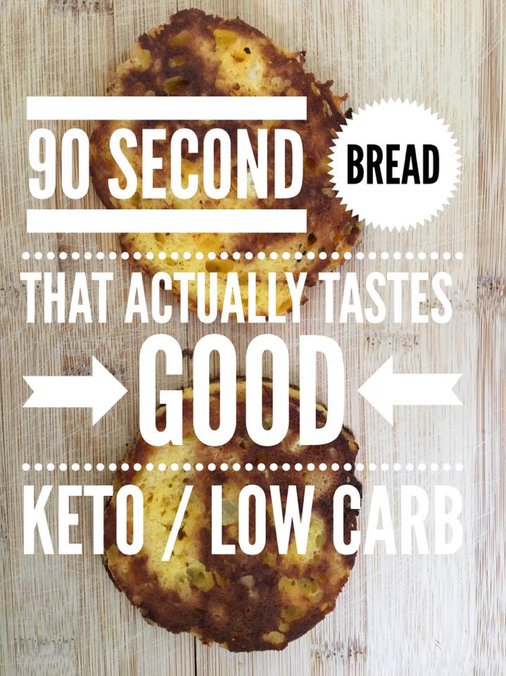 90 Second Bread that Actually Tastes Good is possible! Our Keto Bread Recipe is super easy, fast to make, and will change your diet!