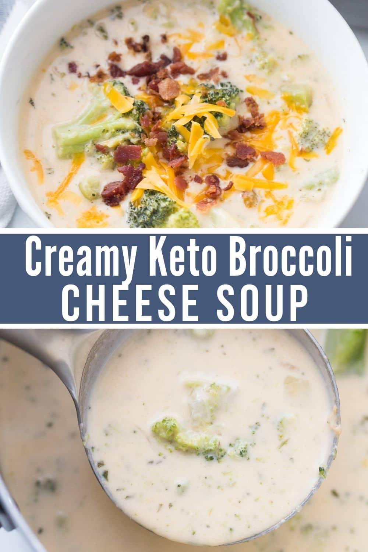 KETO Creamy and Healthy Broccoli Cheese Soup