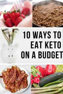 A collage of 10 ways to eat Keto on a Budget