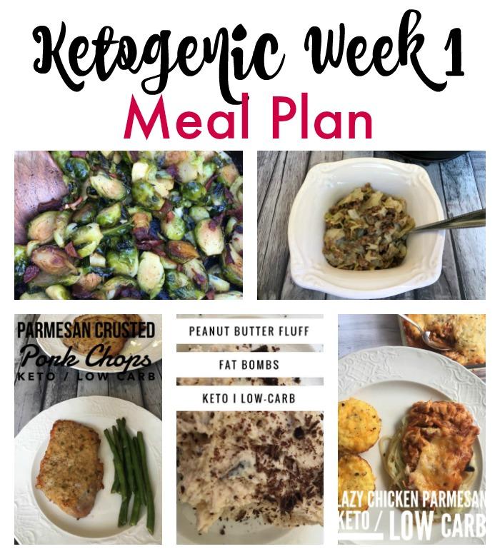 ketogenic week 1 meal plan