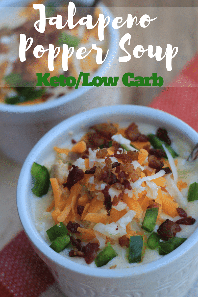 Make this Keto Jalapeno Popper Chicken Soup in your Instant Pot or Crockpot!  This is a great low carb soup recipe that the entire family will love.  You can make this as a great low carb keto soup on your meal plan on a regular basis!