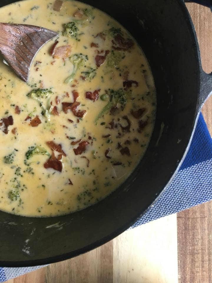 cheesy ham chowder pot edited
