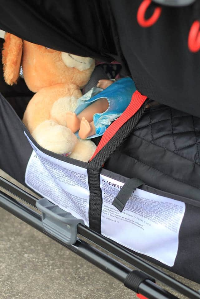 BOB Stroller Review storage