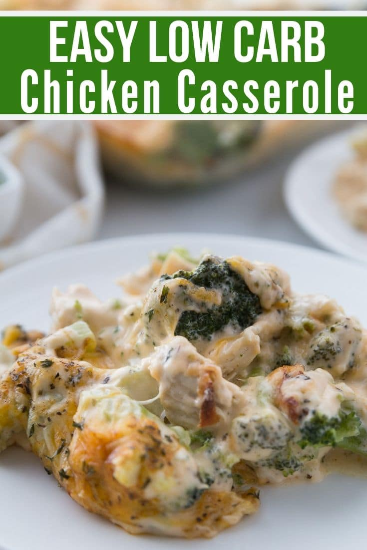 easy low carb chicken casserole plated