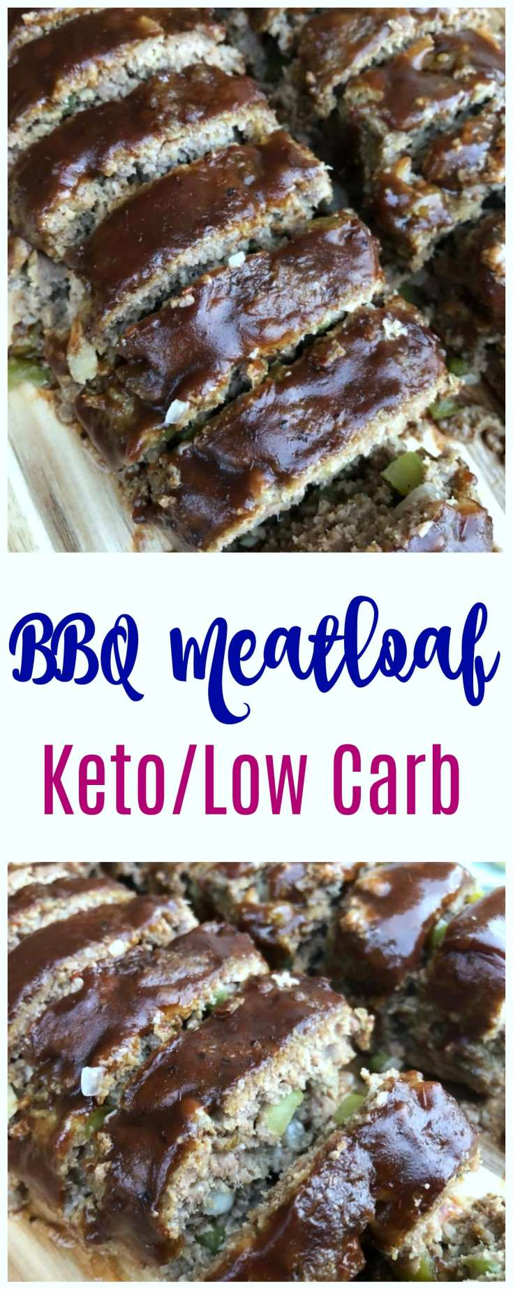 This BBQ Keto Meatloaf Recipe is a low carb dream! So easy to whip up and full of the flavor you want and expect in the perfect comfort food recipe! Add this low carb meatloaf to your keto meal plan this week as a real crowd pleasing family recipe!