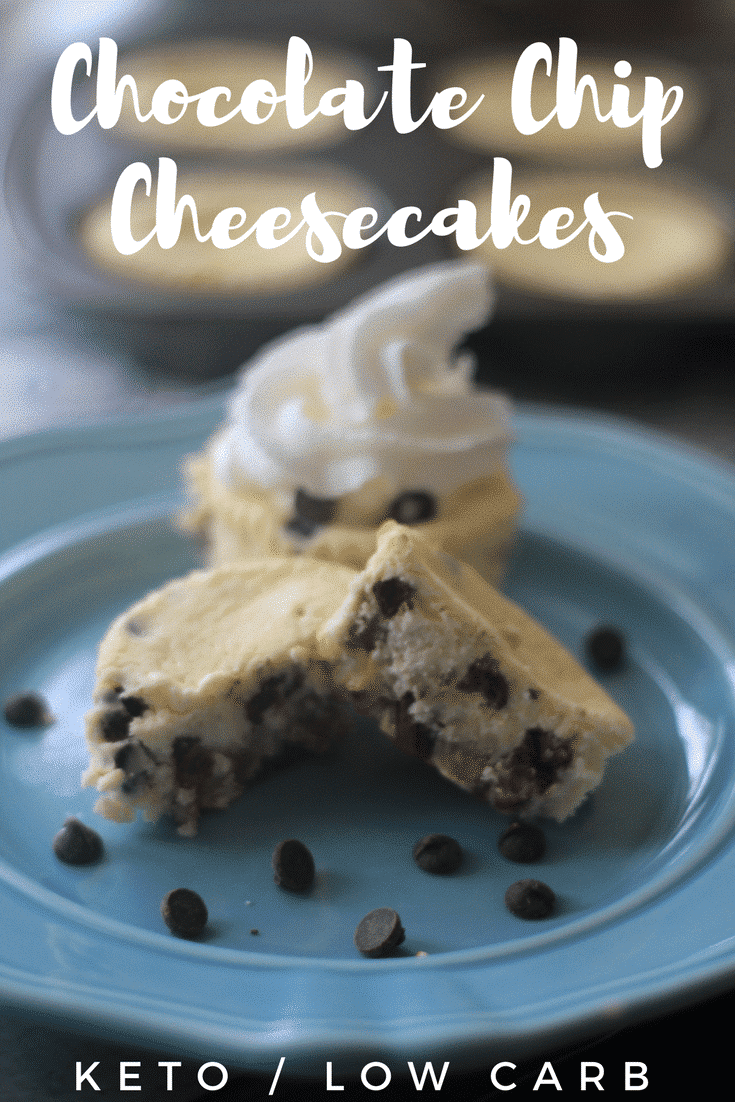 Keto Chocolate Chip Mini Cheesecake Recipe is going to become a favorite on your low carb journey. These are so easy to whip up and serve! Keto cheesecake is one of the best parts of the low carb diet.