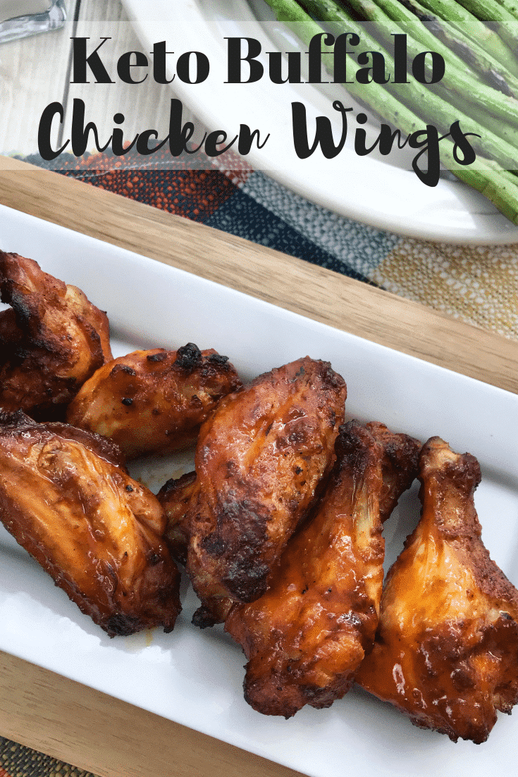 Keto Buffalo WIngs are a delicious chicken wing appetizer for your next party! These low carb chicken wings are easy, delicious, and a perfect treat at your next event. A great low carb appetizer recipe everyone enjoys!