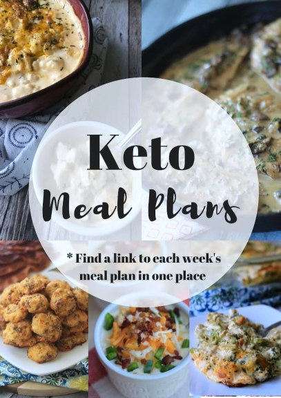 Collage of Keto Meal Plan