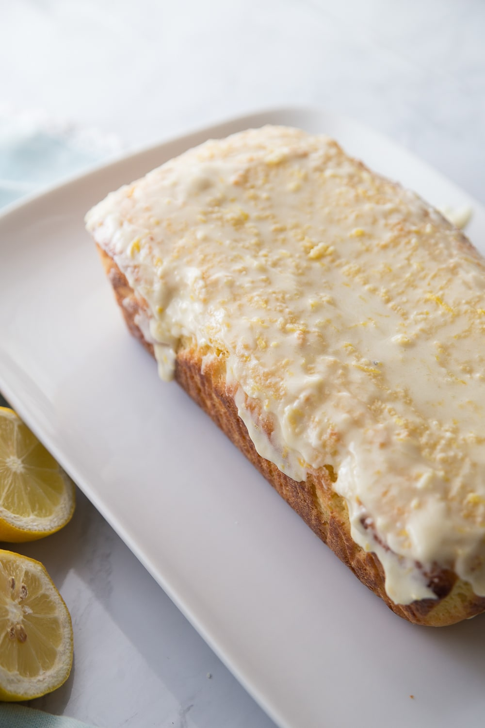 This Keto Lemon Bread recipe reminds me of Starbucks glazed lemon bread, but with a fraction of the carbs. #keto #lowcarb