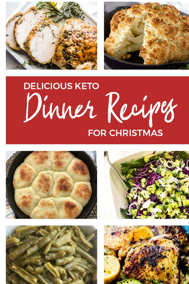 If you're looking for some delicious Keto Dinner recipes, these holiday recipes are perfect! Keto main dish, Keto side dish and even Keto bread recipes can all be found here! #keto #Christmas #ketodinner