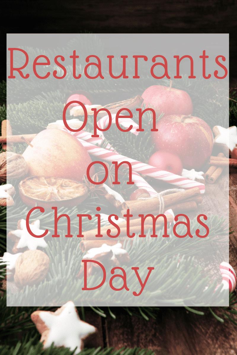 Fast Food Restaurants Open Xmas