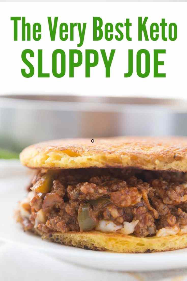 keto sloppy Joe on 90 second bread plated