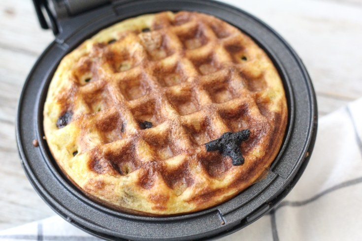 dash waffle maker with Keto Chaffle golden brown