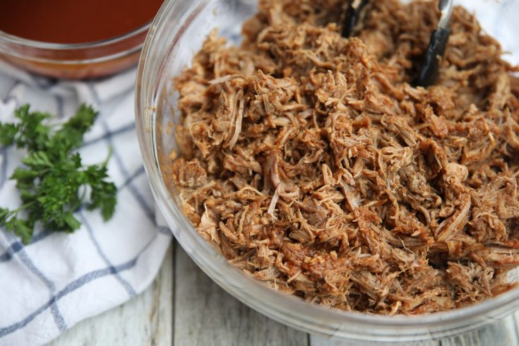 low carb pork roast shredded