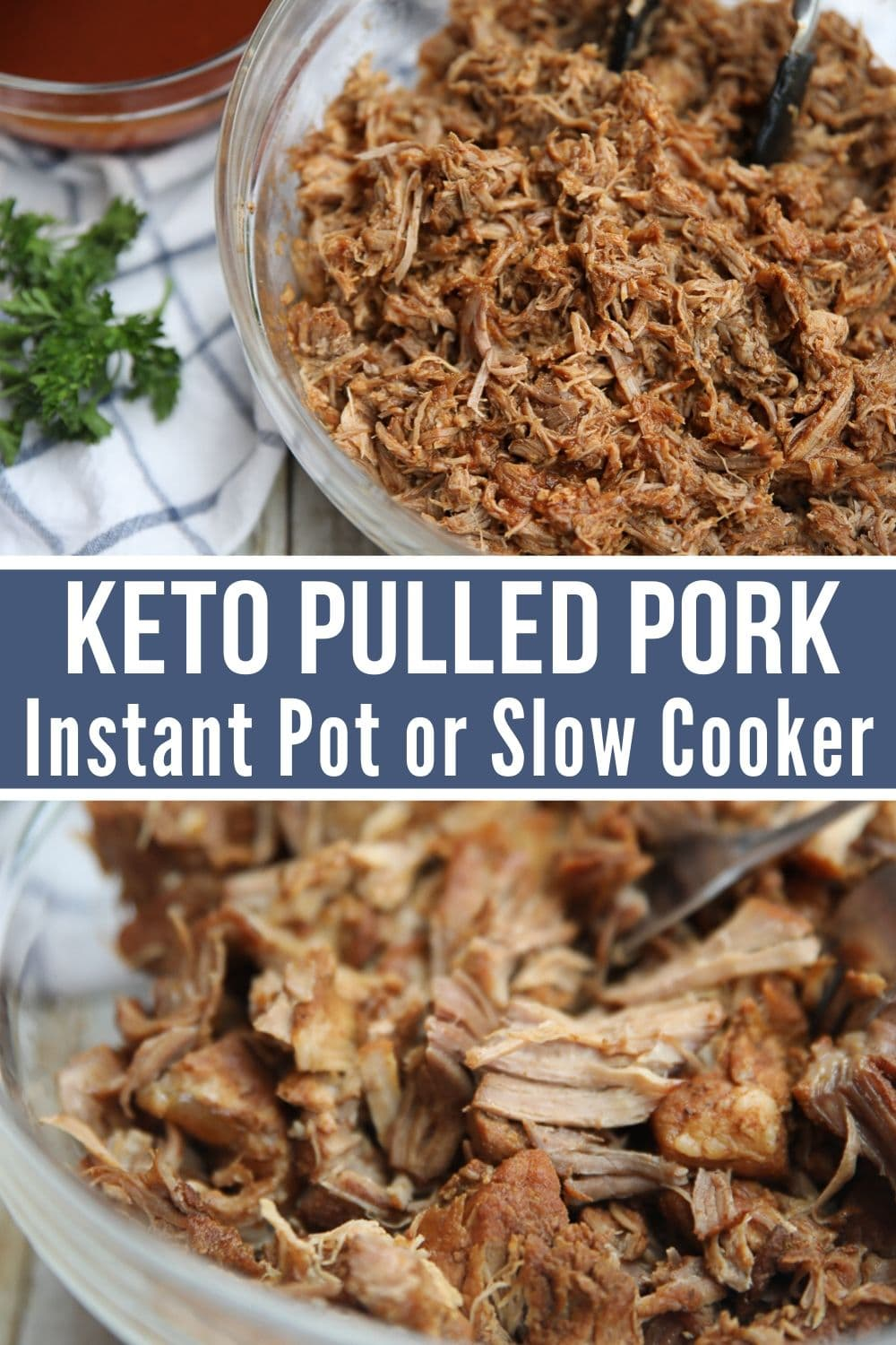 keto pulled pork collage