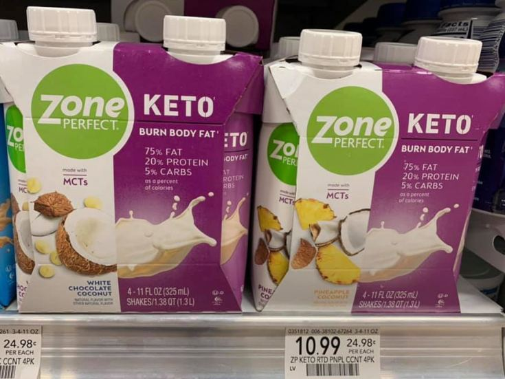 ZonePerfect Keto Shakes in store at Publix