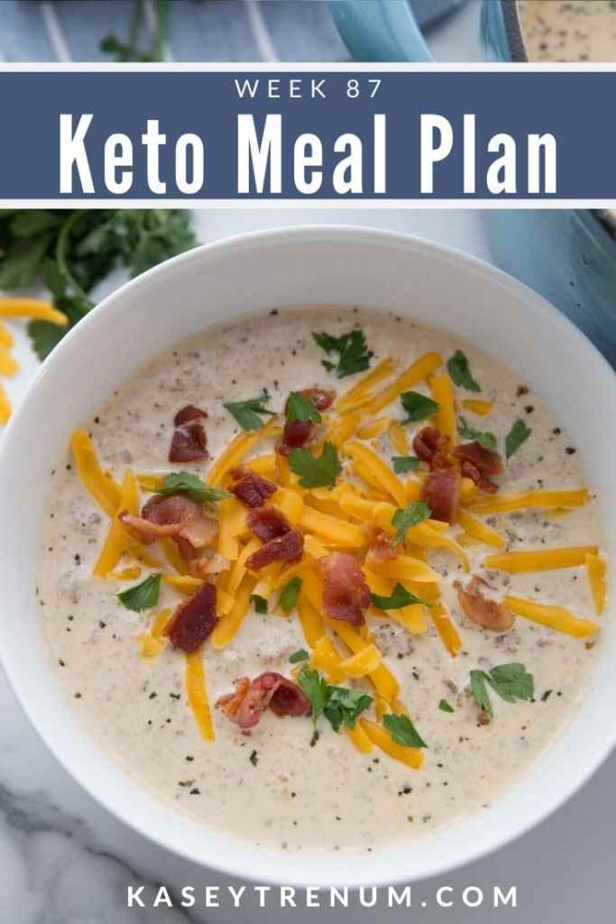 Keto Low Carb hamburger Soup Meal Plan