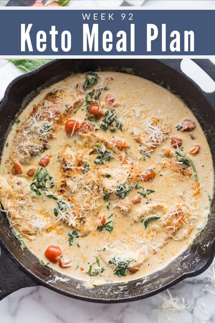 Keto Tuscan Garlic Chicken in Black Cast Iron