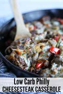 An easy cheesy keto philly cheesesteak recipe