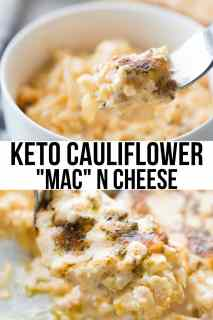 macaroni ,cauliflower and cheese in a bowl