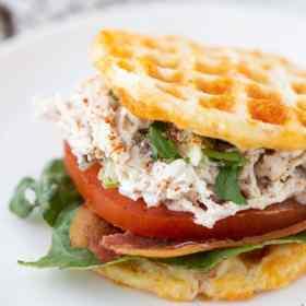 Chaffle Waffle Chicken Salad