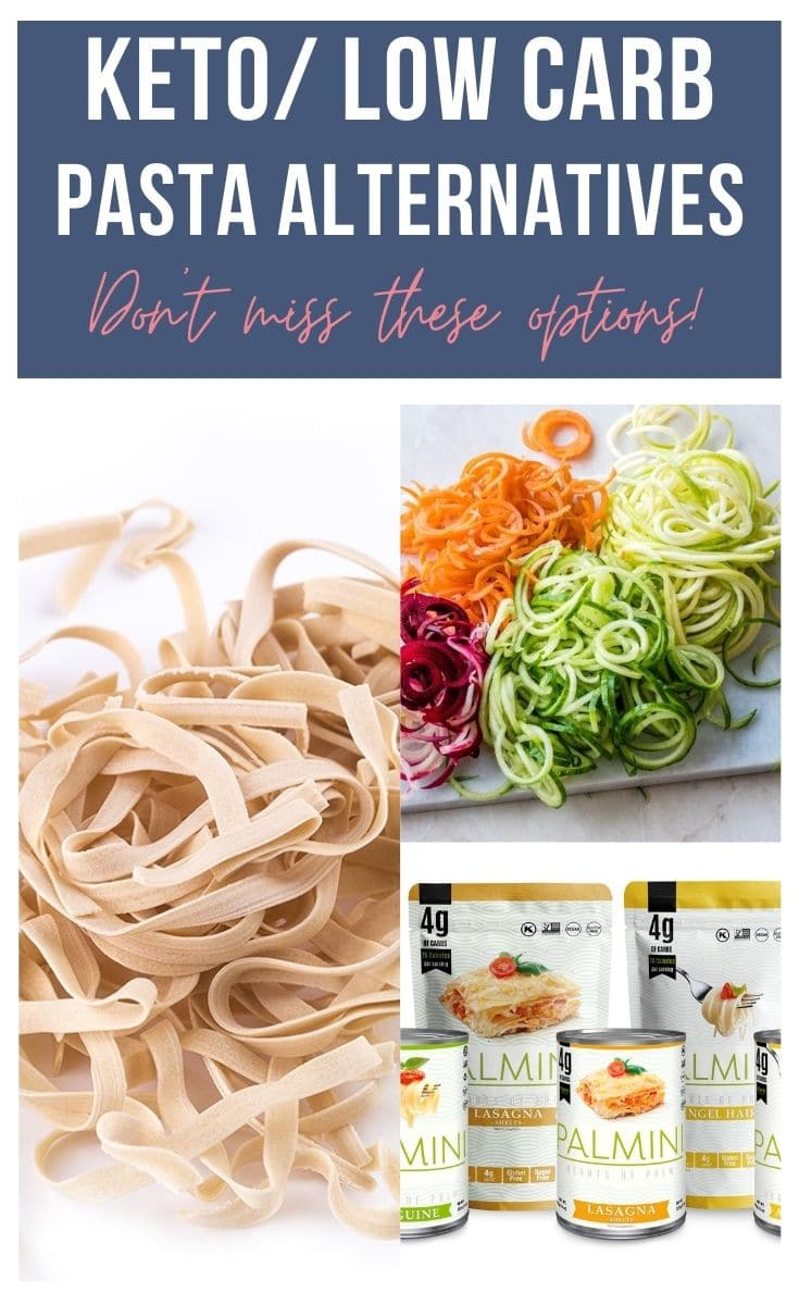 keto/low carb pasta alternatives