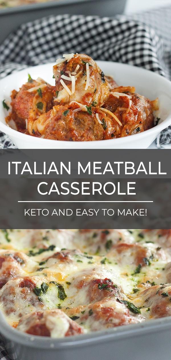 Keto Italian Meatball Casserole
