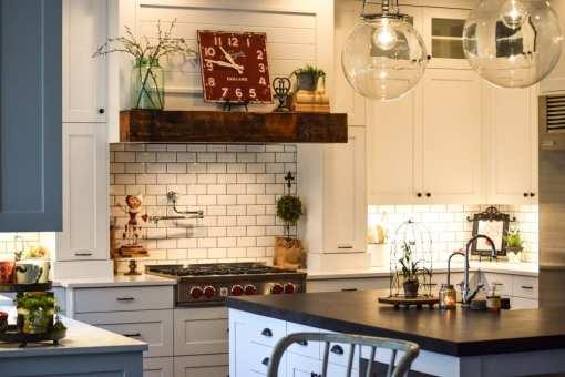White Farmhouse Style Kitchen Remodel