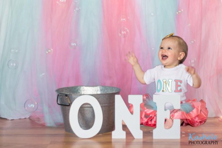 Miss Thomas' First Birthday Session | NSL Utah Family Photographer | Kashele Photography
