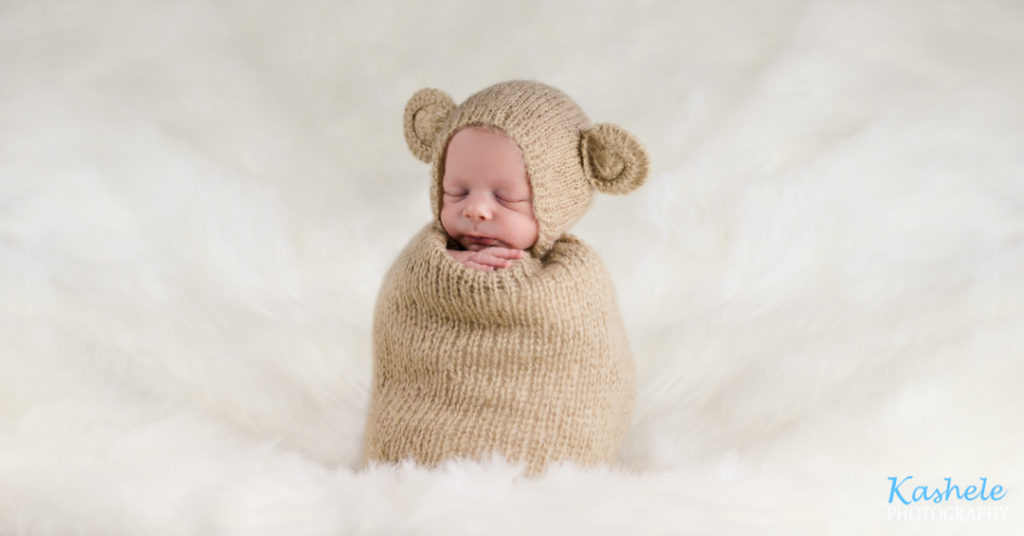 Utah County Newborn Photographer potato sack pose