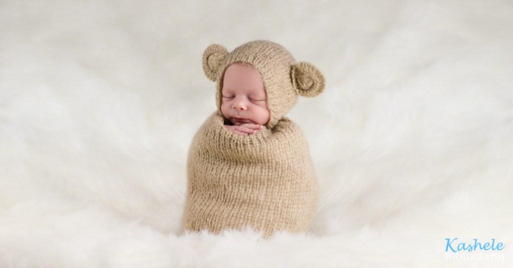 Utah County Newborn Photographer potato sack pose