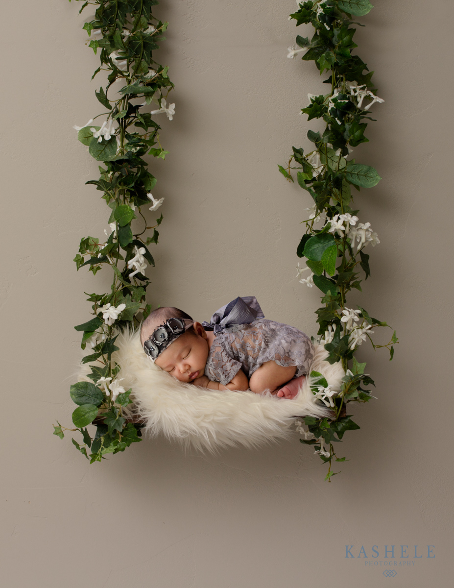 Image of baby in a swing for don't try this at home post