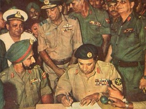 General Niazi Surrendering in Public Ceremony