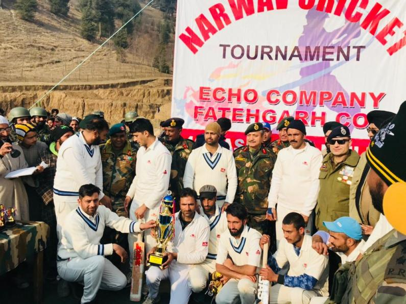 Army organised Narwav cricket tournament concludes