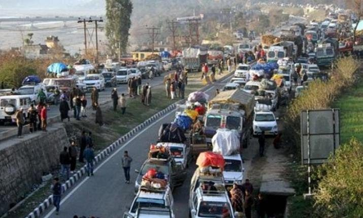 National Highway : Traffic to ply from Srinagar to Jammu tomorrow