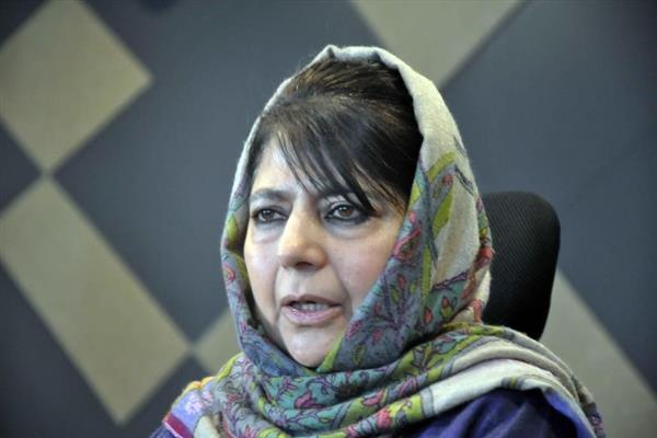 BJP implementing its agenda in JK through Governor: Mehbooba