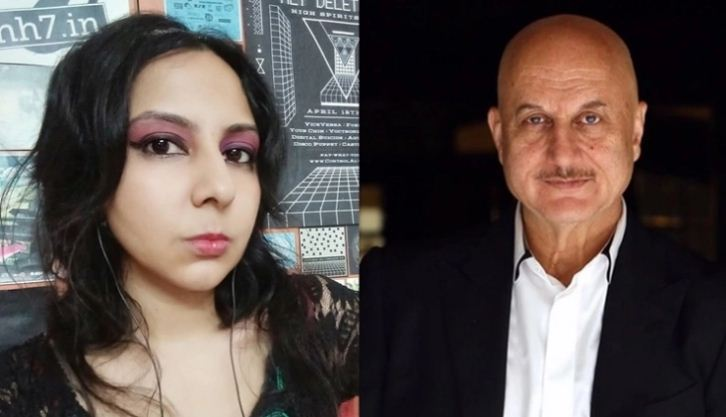 Agrima Joshua calls out Anupam Kher's student for sending abusive messages