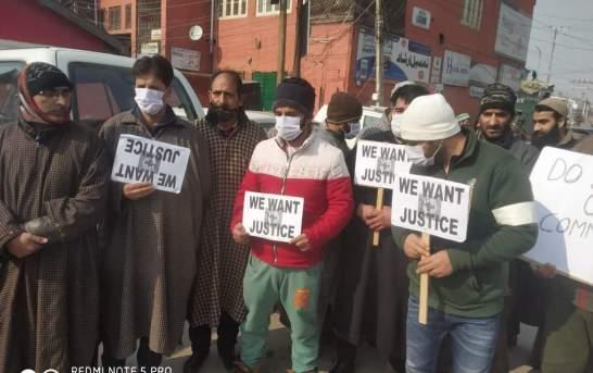 Mutton traders stage protest in Kashmir capital Srinagar