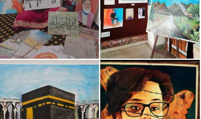 Meet 22-yr-old Asma from Bandipora's Gamroo village who draws her skills on canvas