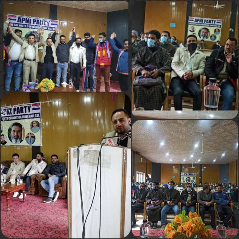 Apni Party Youth Wing Kashmir Organises Convention in district Ganderbal