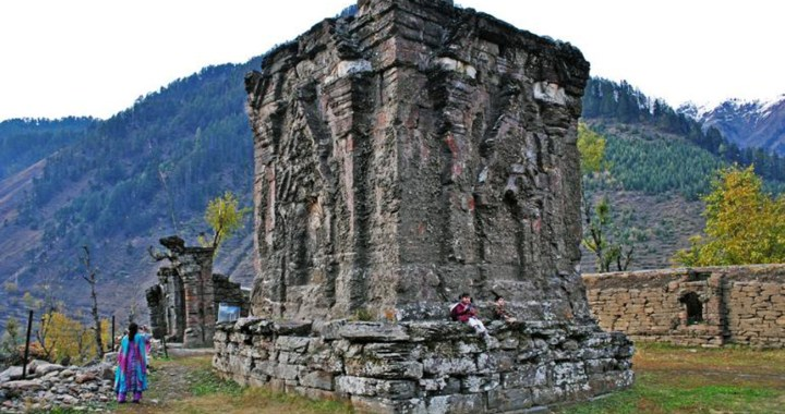 Historical temple of Goddess Sharda at Kashmir Neelum Valley