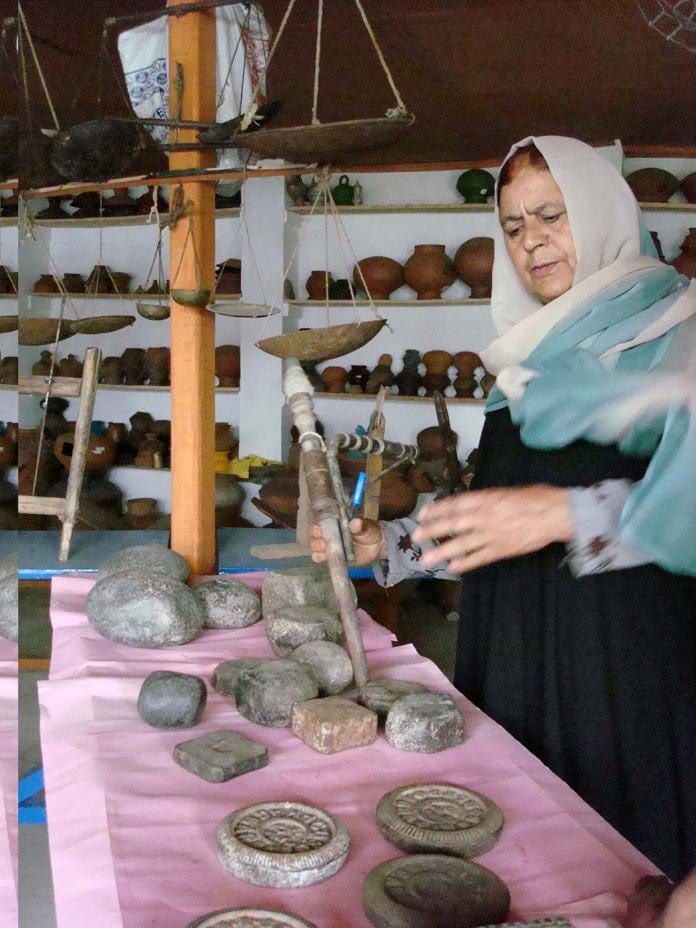 Atiq Banoo in the heritage palace she built