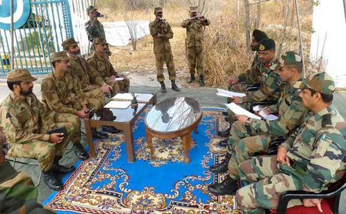 The Brigader level flag meeting between the two armies in Poonch's Chakan-da-Bagh