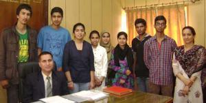 Meritorious Students of APS Srinagar.