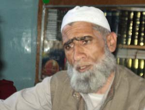 Religious Scholar Moulana Ghulam Mohammad Parray at his residence in Lawaypora.