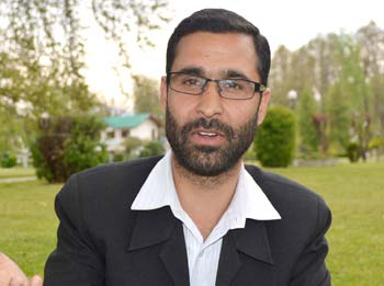 Aashiq Hussain Dar , State Vice-President, BJP's Youth Wing Kashmir.