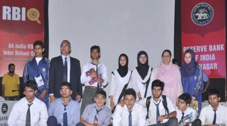 1. The finalists of the Quarter Finals of All India Reserve Bank Inter-School Quiz Competition held in Srinagar on Tuesday