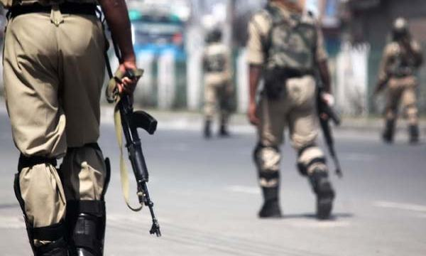 Subjecting Surveillance: Keeping vigil on desolated streets in Srinagar's old city, huge contingents of government forces were called to thwart any untoward incident on the day when 'first among the equals', were on visit.